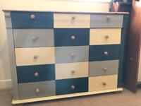 One of a kind Upcycled Boys Chest of Drawers