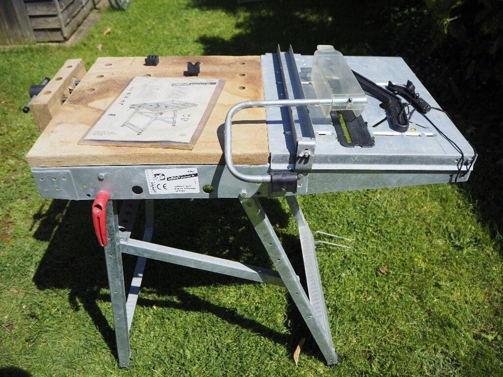 Wolfcraft Pioneer Iii Folding Workbench Saw Table In