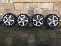 Winter wheels and tyres for Mercedes-Benz E-Class. Very good condition.