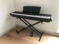 Yamaha P105 Digital Piano with Upgraded Pedal and Adjustable Stand