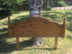 ducal antique pine headboard (double)