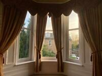Bay set Curtains with pelmets
