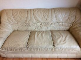 3 Seater leather sofa free - must be collected by Saturday 30th December 2017 mid-day