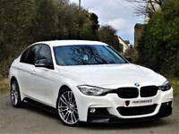 ALPINE WHITE - BMW 320D M SPORT BUSSINESS EDT - M PERFORMANCE PACK - LEATHER - WARRANTY - HUGE SPEC