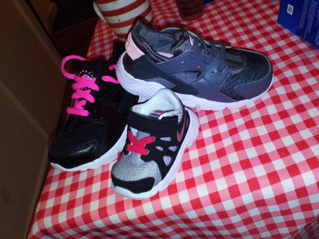 Three pairs of trainers