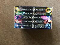 Set of 5 Percy Jackson books