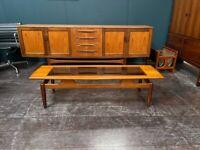 Vintage One-Off Carpenter Built Teak Mid Century G Plan / Danish Style Coffee Table. Retro 1960s