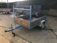 """NEW 7ft x 4ft 6"""" CAR TRAILER WITH LONG RAMP TAIL DOOR"""