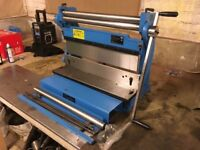 Clarke £ in ! Guillotine, rollers and press brake