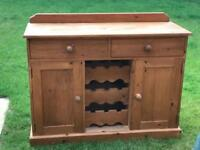 Wine Rack Solid Pine Sideboard with Drawers