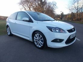 2011 60 FORD FOCUS 1.6 TDCI ZETEC S 3 DOOR DIESEL MANUAL IN STUNNING WHITE