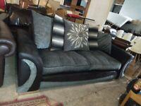 SCS Martinez Grey & Black Sofa settee VGC Deliv Poss