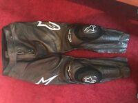 Motorbike leather alpine star trousers