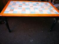 Dining Table country style with tiled top