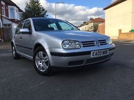 2003 VOLKSWAGEN GOLF 1.6 MATCH,1 OWNER,LOW MILES 58711 ONLY-FULL SERVICE HISTORY