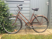 Vintage Classic Ladies Womens Town Old Bike Bicycle Raleigh