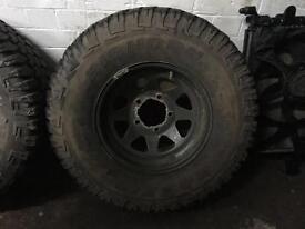Off road tyres.