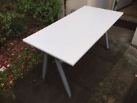 Top quality white tables for sale adjustable in height (120cm x 60cm)