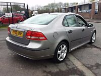 2006 SAAB 9-3 VECTOR SPORT TID GREY,150 BHP,6 SPEED,9 MONTHS MOT,SERVICE HISTORY,LEATHER SEATS,P/X