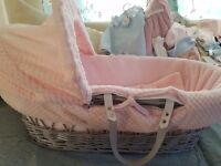 Immaculate Claire de Lune Moses Basket