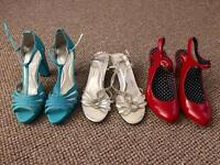 3 pairs of women's shoes, size 7