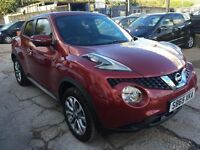 Nissan Juke 1.6 Tekna XTRONIC CVT 5dr£11,490 p/x welcome FREE 1 YEAR WARRANTY