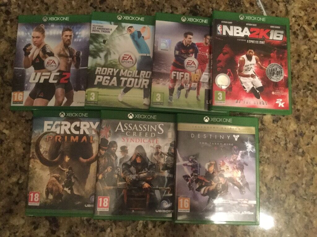 Xbox One 7 Games *Excellent Condition* (UFC 2, Far Cry Primal)+MORE
