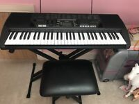 Electric Keyboard CTK-700 with stand & stool.