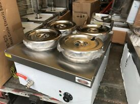 CATERING COMMERCIAL KITCHEN NEW WET 4 POT BAIN MARIE CAFE KEBAB CHICKEN FAST FOOD RESTAURANT SHOP
