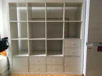 Bookcase with drawers and cupboards