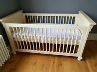 Childrens bedroom set - First bed/cot and wardrobe
