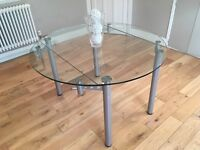 Gorgeous extending glass table for sale