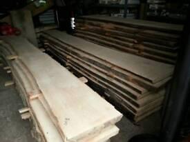 Waney live edge timber slabs