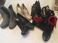 Bundle of women's shoes sz 6
