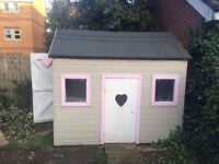 Children's playhouse/garden shed. Great condition, tiled flooring inside.