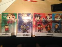 Amiibo - Villager, Fox, 3-pack Mii Fighters