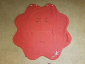 Red Wallaboo Fleur Wrap Blanket