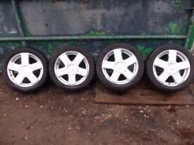 Ford fiesta 2004 set of 4 alloy wheels R15 & Tires