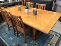 Large Ducal dining table with four chairs - very solid / very comfortable - Carlisle - can deliver