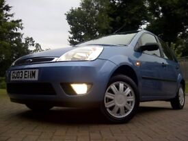 2003 Ford Fiesta 1.6 Ghia 5dr - Just 3,495 Miles / Full Ford Service History / Time Warp