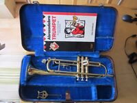 Jupiter trumpet with music stand