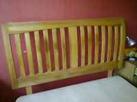 Double Bed Wood Headboard