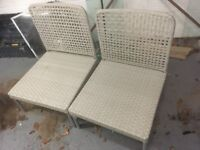 5 rattan light grey outside chairs