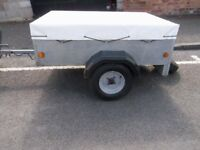 TRAILER CADDY 535 GALVANISED & COVER & SPARE WHEEL 5 X 3.5