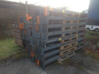 PALLET RACKING STORAGE 50 FRAMES 400 BEAMS CHEAPEST LOT IN UK £2000 READY FOR DELIVERY