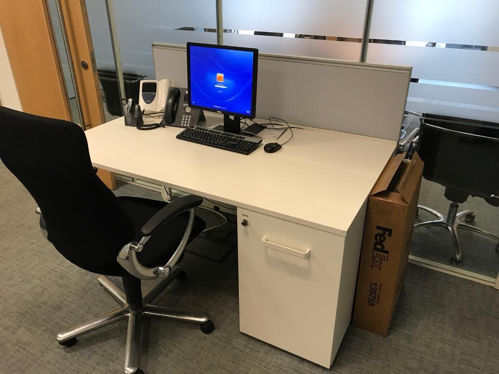 bene office furniture. 30 White Bene Office Desk With Pedestals And Screens. Image 1 Of 7 Furniture