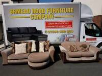 DFS reversible corner sofa and matching 2 seater