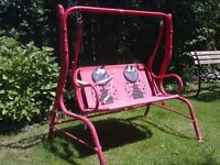 KIDDIES LADYBIRD GARDEN SWING SEAT FOR SALE. COULD DELIVER.