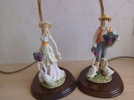 2 Leonardo Figurine Lamps. Excellent condition. Plus extra one free.