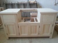 Base unit for 600mm Belfast sink - handmade - solid wood - pine - kitchen unit - Reference: SB600-6